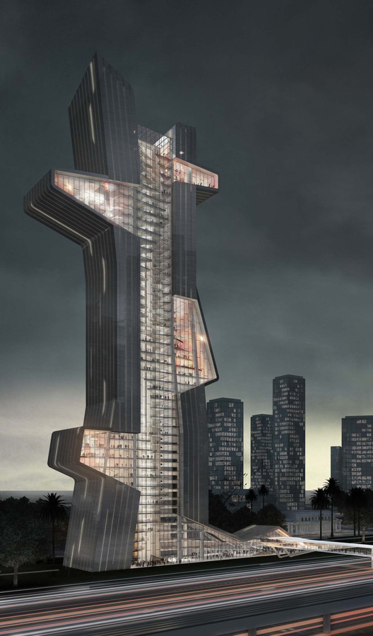 What If Dubai's Next Tower Were an Architecture School? , Courtesy of Evan Shieh, Ali Chen