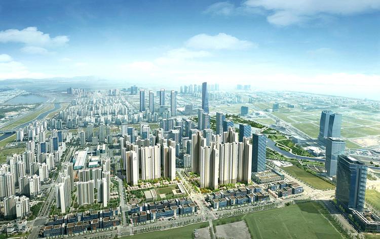 Esqueça os carros voadores - Cidades inteligentes precisam de cidadãos inteligentes,  Songdo, na Coréia do Sul, é uma nova cidade fundada com os princípios das cidades inteligentes. Imagem Cortesia de Cisco