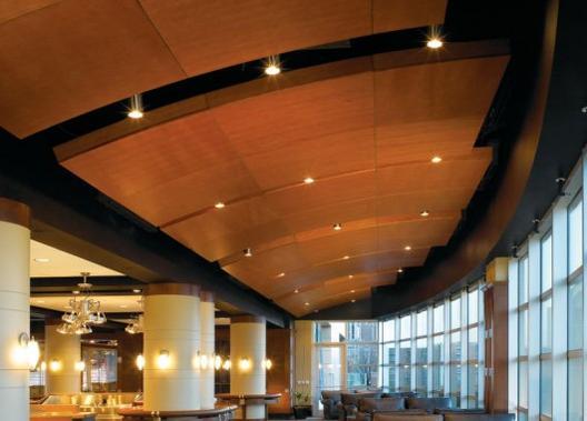 Materiales especificaci n de plafones archdaily m xico for Plafones de madera pared
