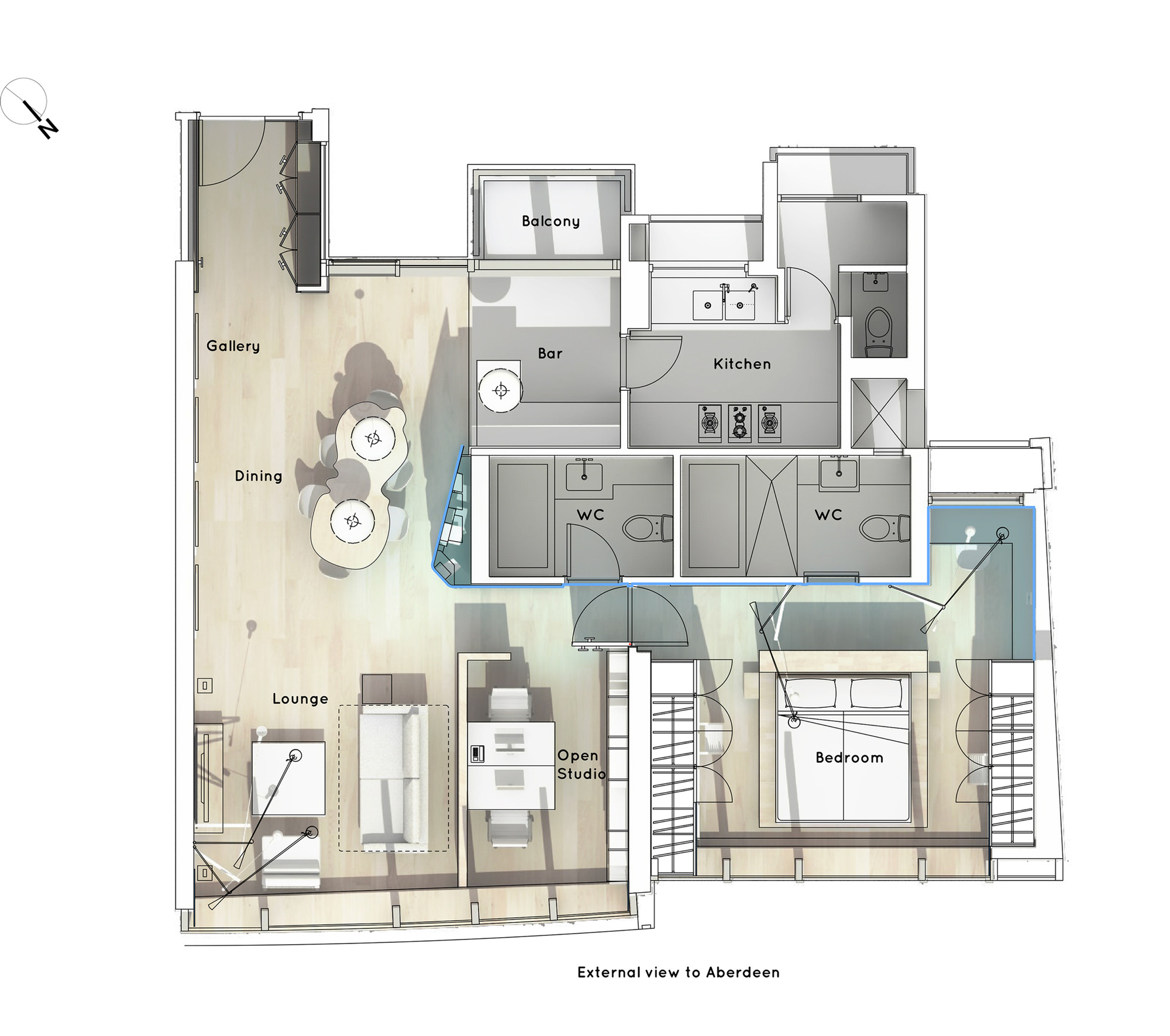 Nice Boathouse Home Office,Floor Plan