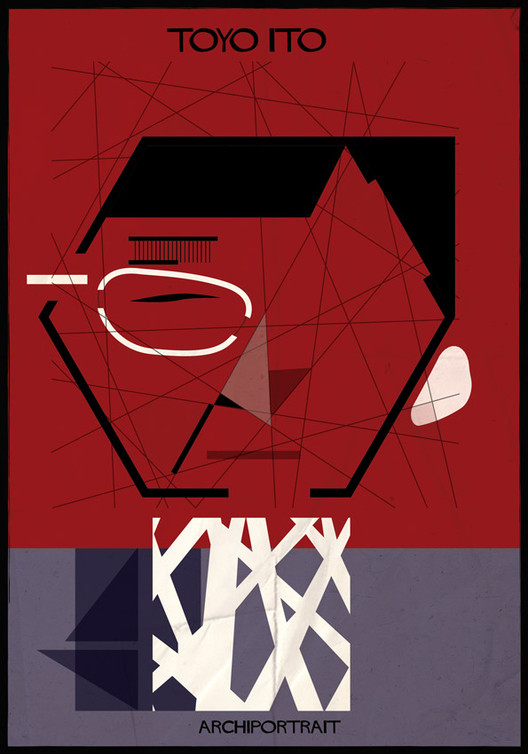 A mais recente série de ilustrações de Federico Babina: ARCHIPORTRAIT, Toyo Ito. Image © Federico Babina