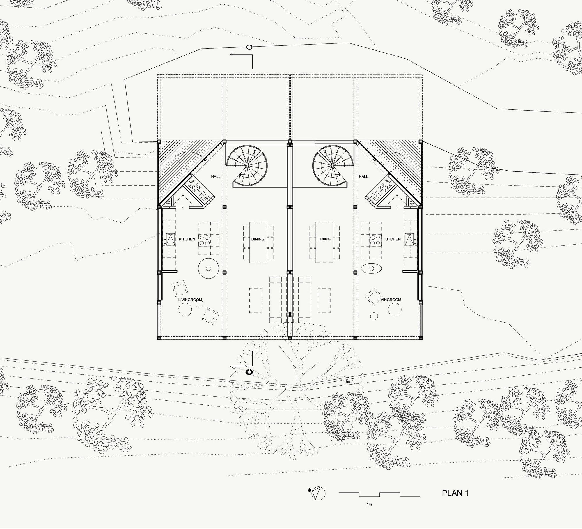 Twins house jva archdaily floor plan pooptronica Image collections