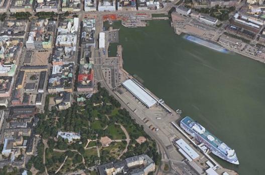 Guggenheim à procura de arquitetos para seu novo museu em Helsinki, Terreno do possível novo Guggenheim Helsinki.. Cortesia de Apple Map View