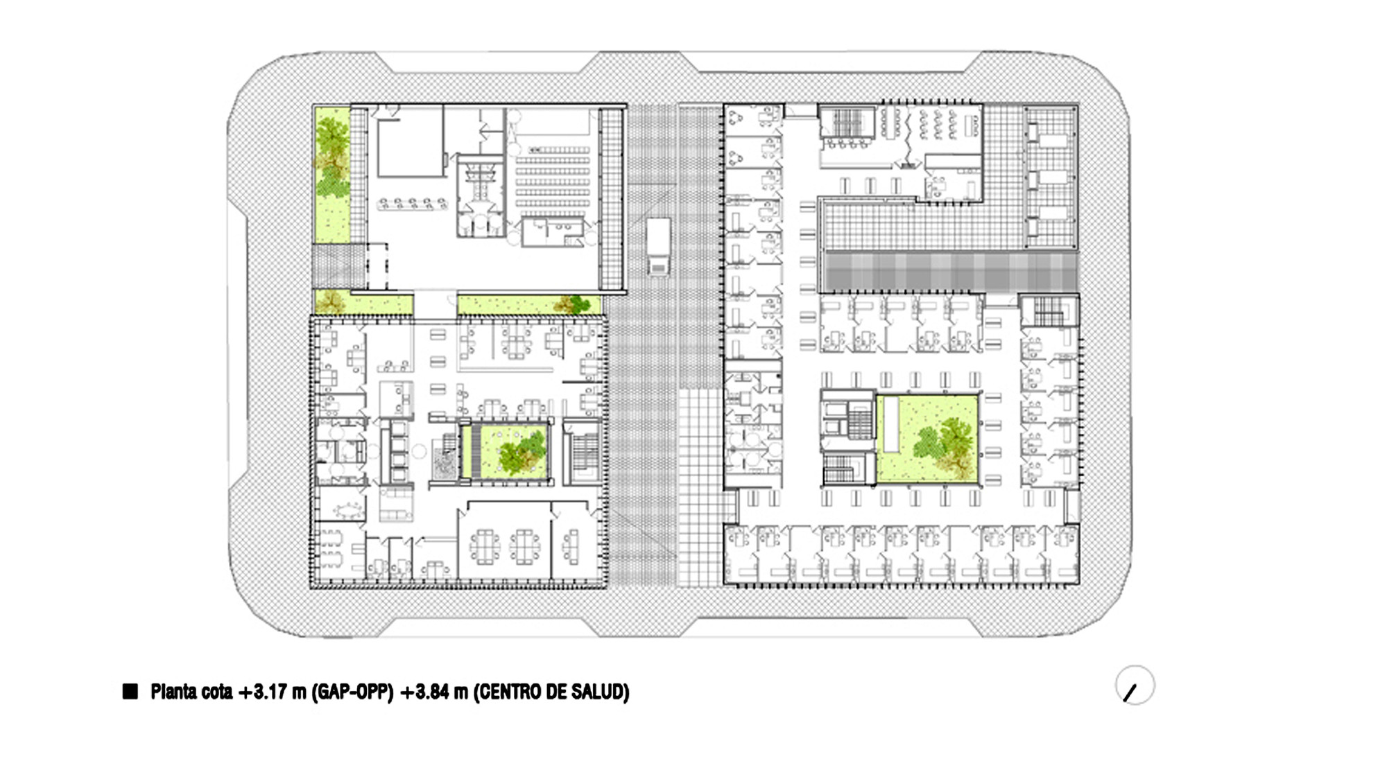 Healthcare Center And Regional Government Offices Bat Arquitecnica Floor Plan
