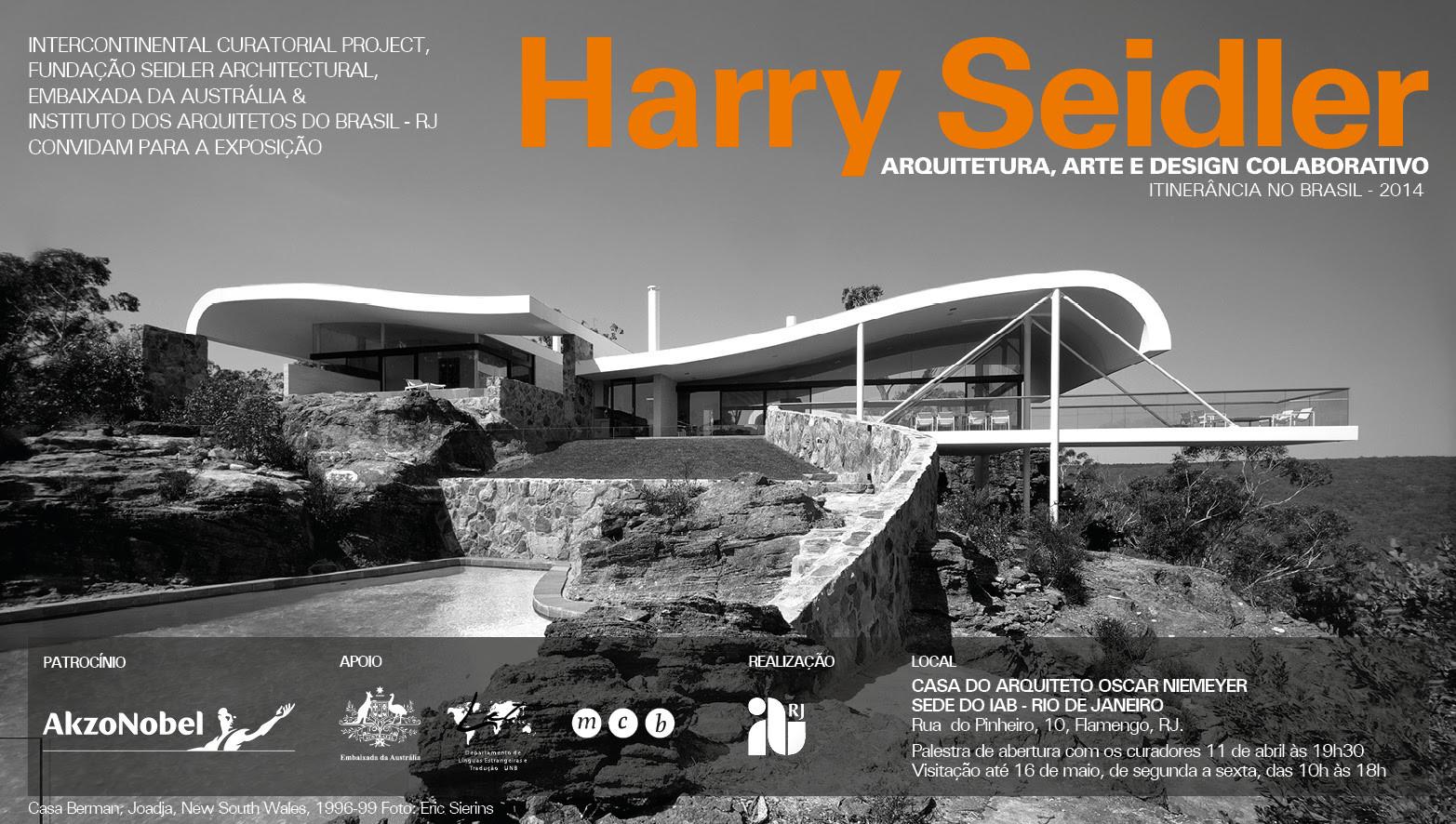 """IAB recebe exposição comemorativa dos 90 anos do arquiteto Harry Seidler - """"Arquitetura, arte e design colaborativo"""""""