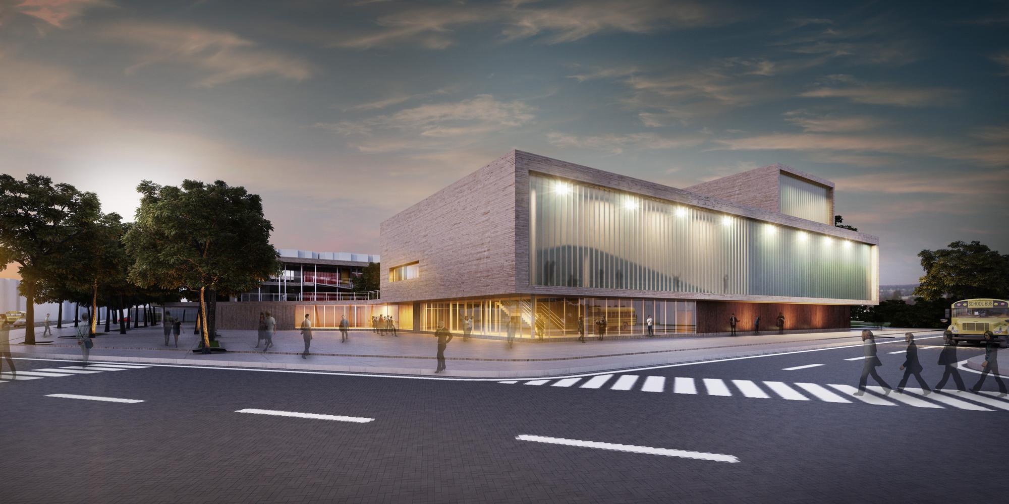 Cuarto Lugar Concurso Para el Diseño de Colegios y un Equipamiento Cultural – Teatro, en Bogotá / Colombia, Courtesy of JAC arquitectos + Mauricio Bravo Coral