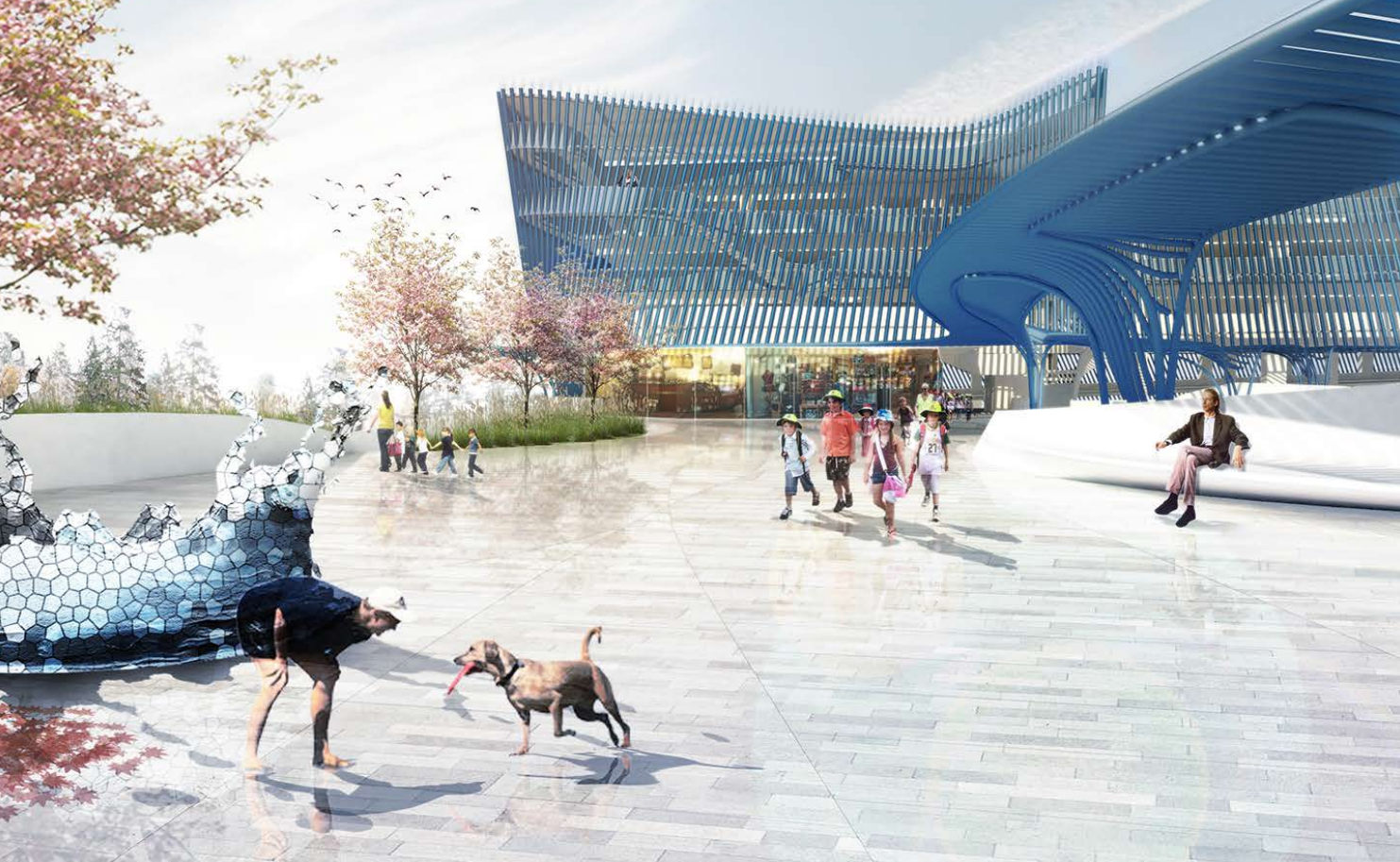 Brooks + Scarpa Designs Park-And-Ride Plaza for Seattle Rail Station, © Brooks + Scarpa