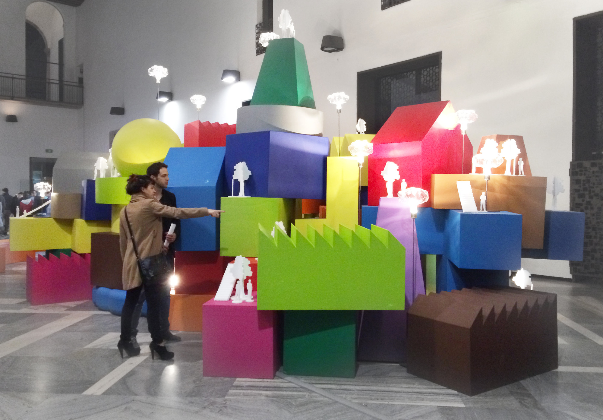 "MVRDV Exhibits Furniture Series ""Vertical Village"" at Milan Design Week, Vertical Village in Milan. Image © Gili Merin"