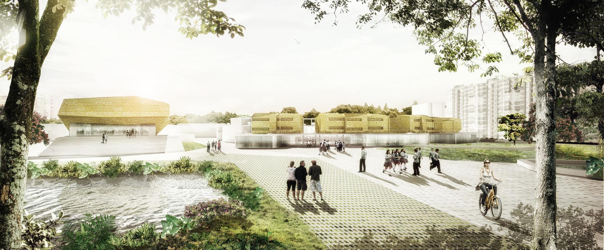 Tercer lugar concurso para el dise o de colegios y un for Plantas de colegios arquitectura