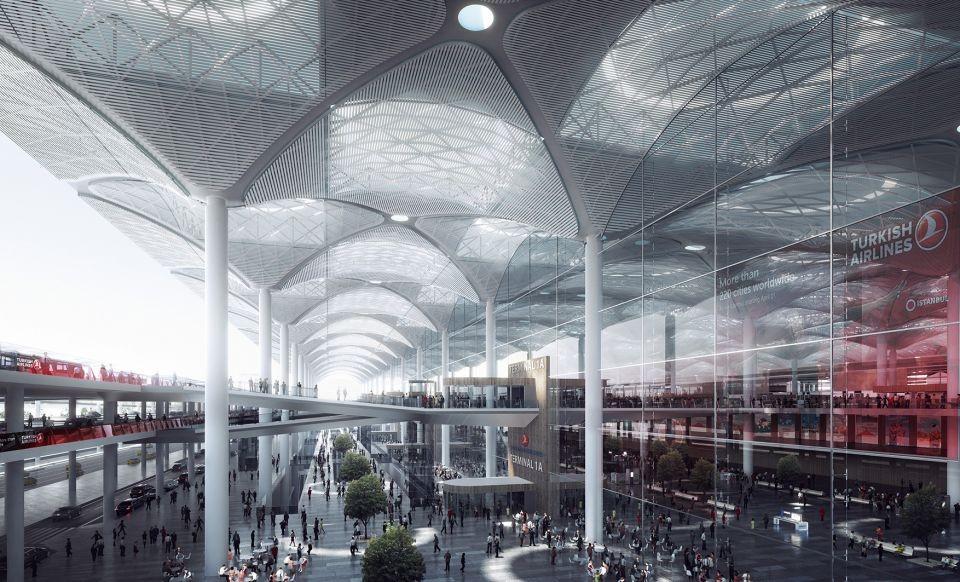 Novos detalhes do maior aeroporto do mundo em Istambul, © MIR