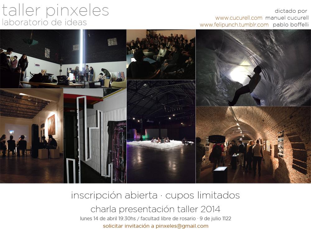 Taller Pinxeles en Rosario / ¡Participa por una beca!, Courtesy of Manuel Cucurell