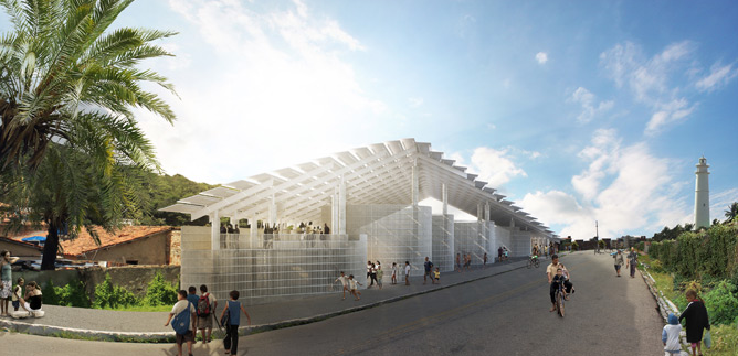 Herzog & de Meuron Complete First Project in Brazil: Morro Arena, Courtesy of Herzog & de Meuron. Exterior.