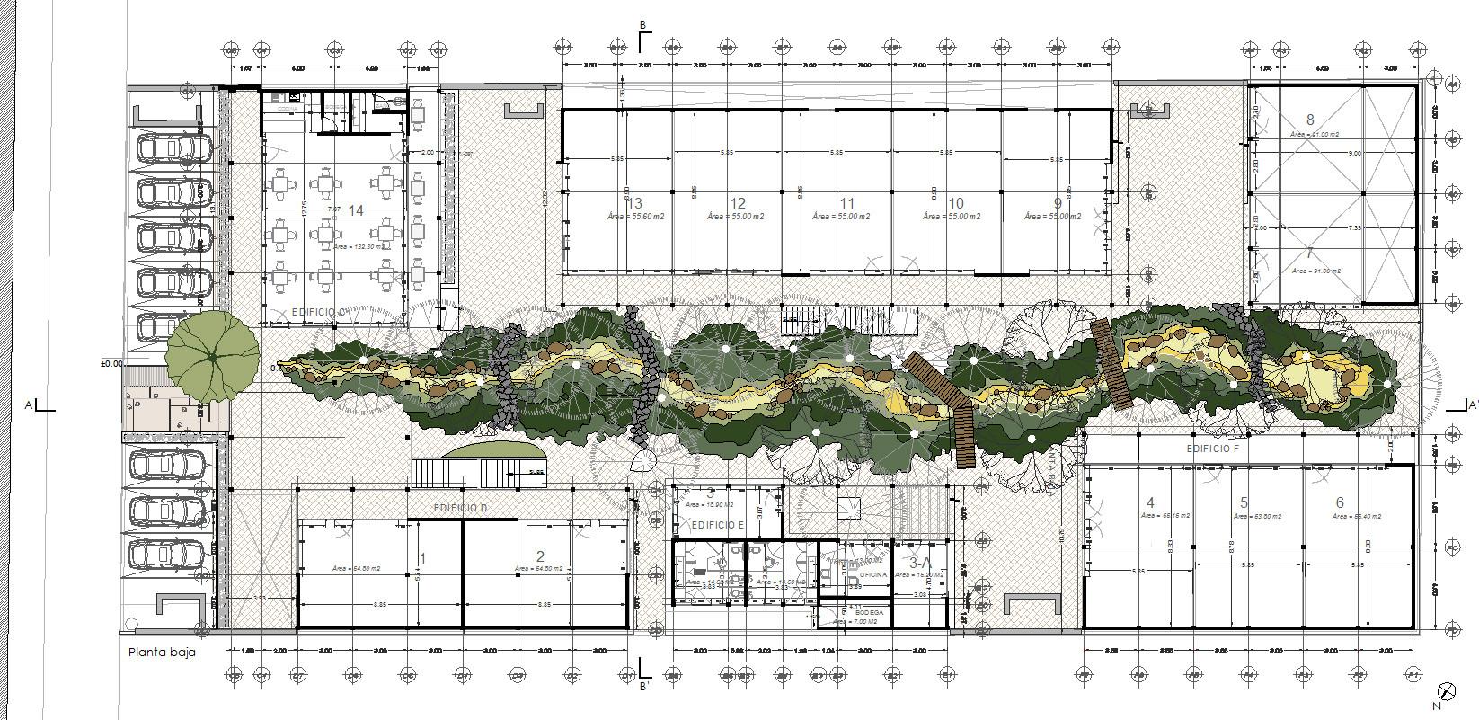 Galer a de arquitectura y paisaje plaza andaro construida for Plantas de arquitectura