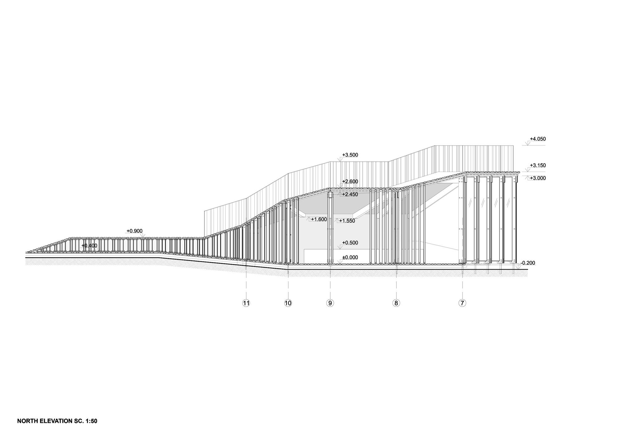 View terrace and pavilion didzis jaunzems laura for Terrace elevation