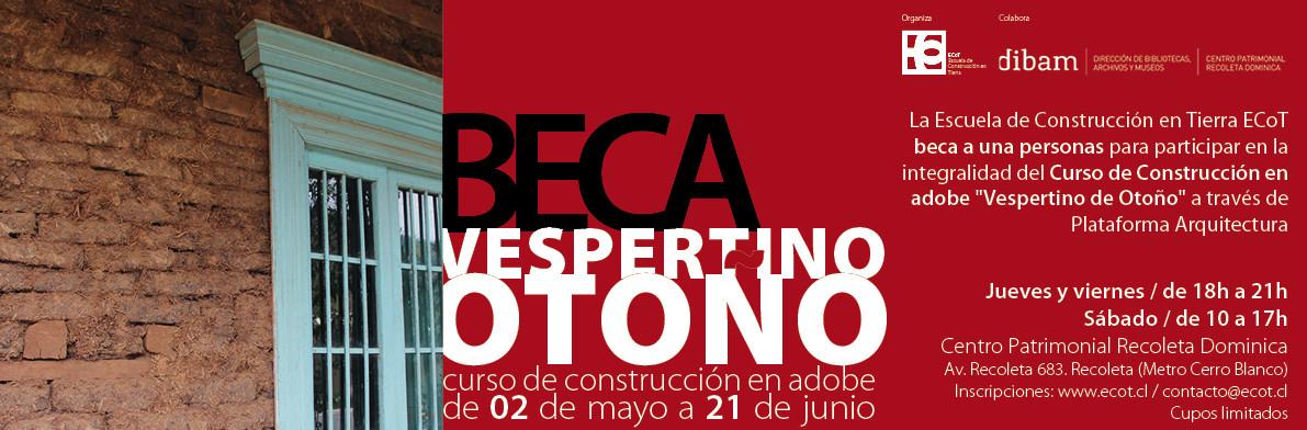 Curso de Construcción en Adobe 'Vespertino de otoño' en Santiago de Chile / ¡Participa por una beca!, © ECoT