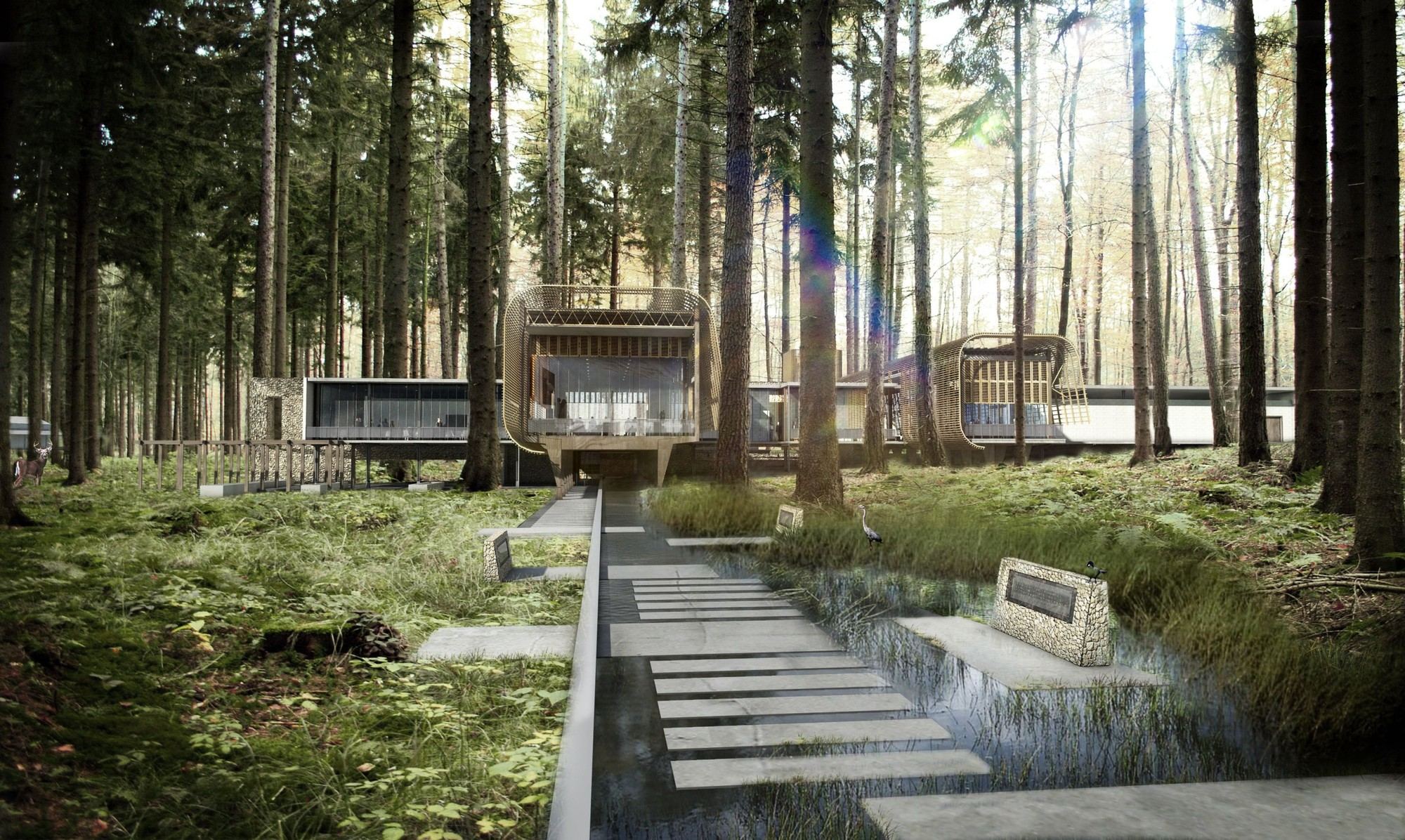 Boogertman Wins Competition to Design Educational Centre in Kenya's Karura Forest, Visualisation (day). Image Courtesy of Boogertman + Partners