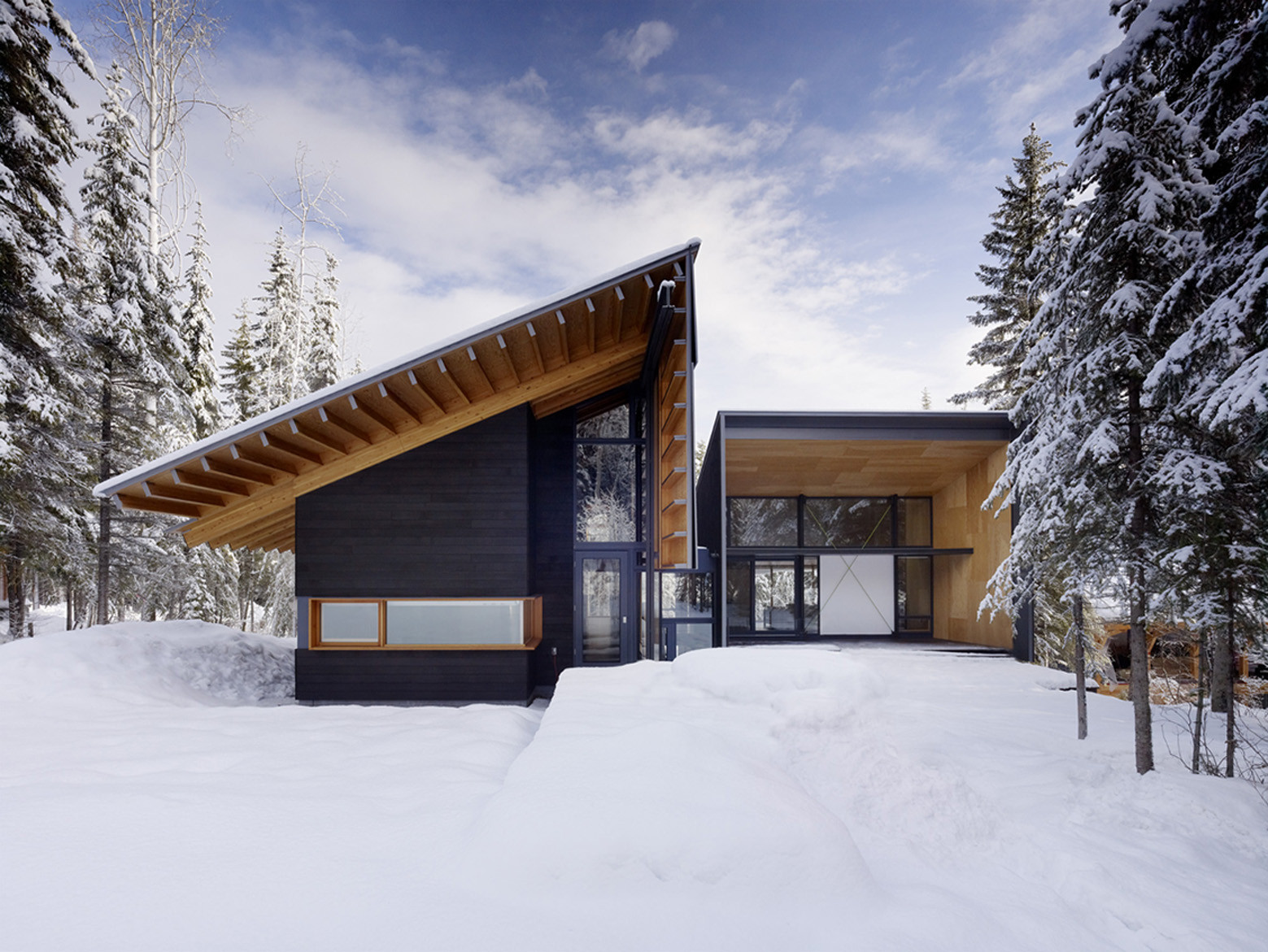 Residencia en Kicking Horse / Bohlin Cywinski Jackson + Association with Bohlin Grauman Miller Architects