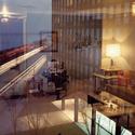 Mies van der Rohe, 860–880 Lake Shore Drive Apartment Buildings, Chicago, 1948–51; Frank Scherschel, Reflexões, como publicado por Life magazine, 1957. Imagem Cortesia de Time & Life Pictures/Getty Images