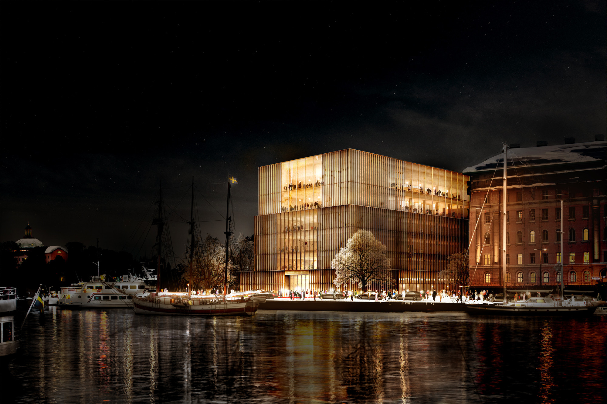 Chipperfield's Stockholm Nobel Centre Faces Harsh Opposition , View towards Nybrokajen. Image Courtesy of David Chipperfield Architects