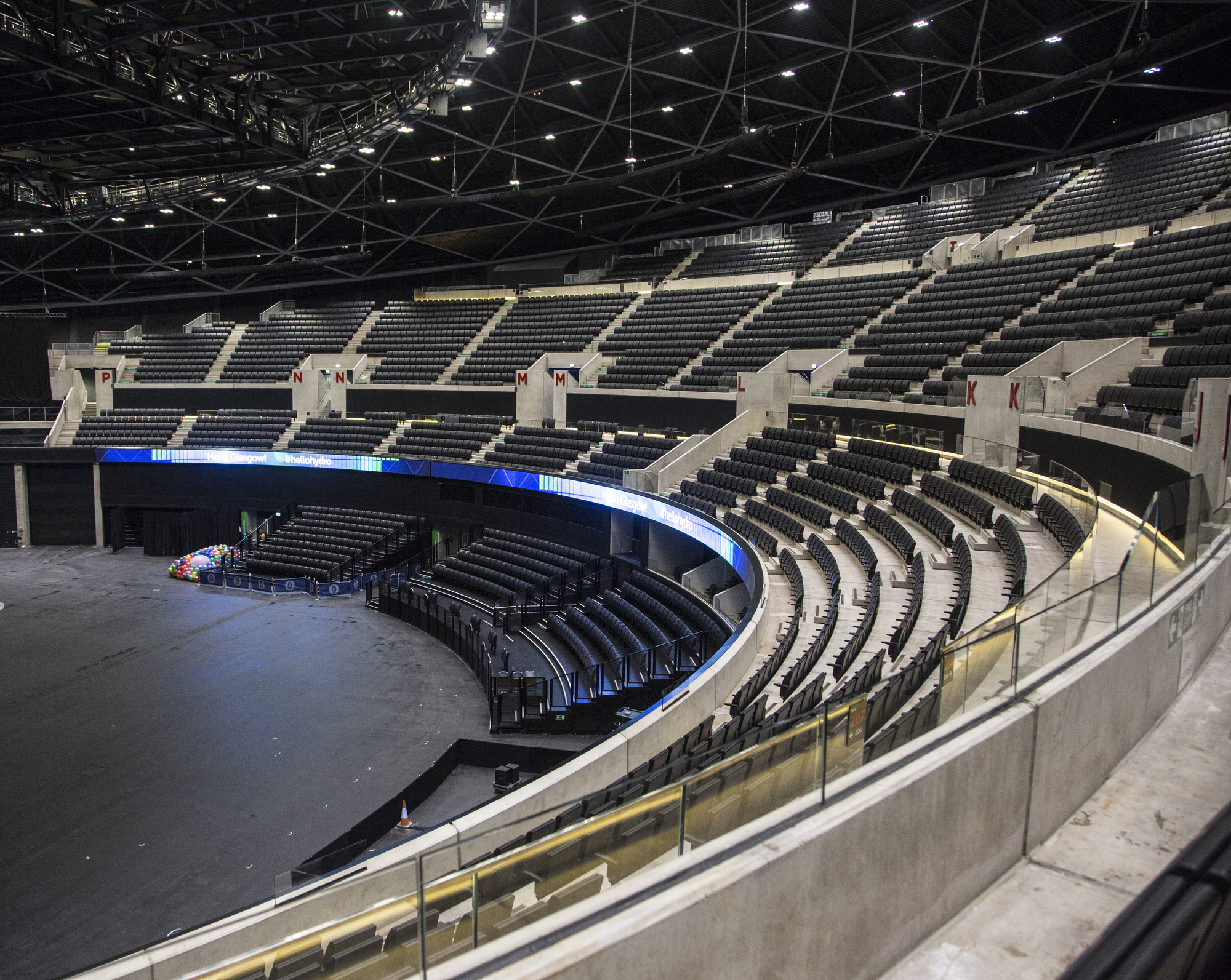 Foster partners sse hydro arena features translucent skin innovative seating system courtesy