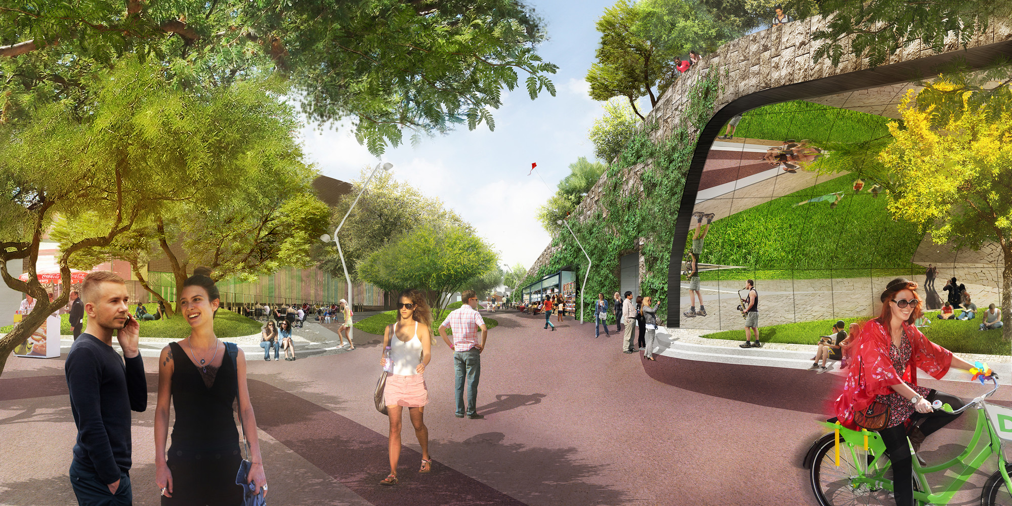 Weddle Gilmore And Melk Redesign Phoenixs Hance Park Entrance Plaza Image C