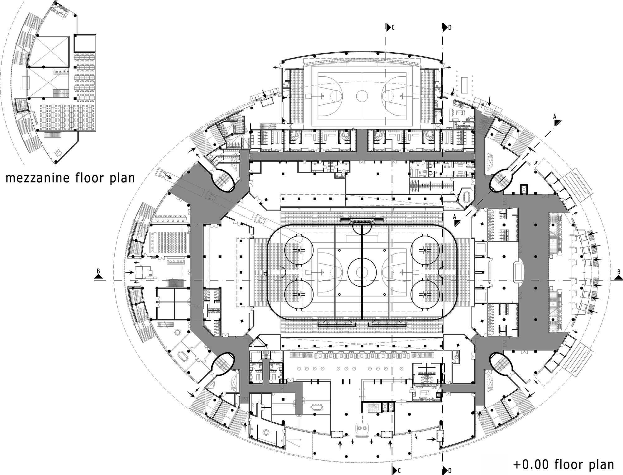 Basketball Arena Floor Plan Gallery Of Ankara Arena Yazgan Design Architecture 20