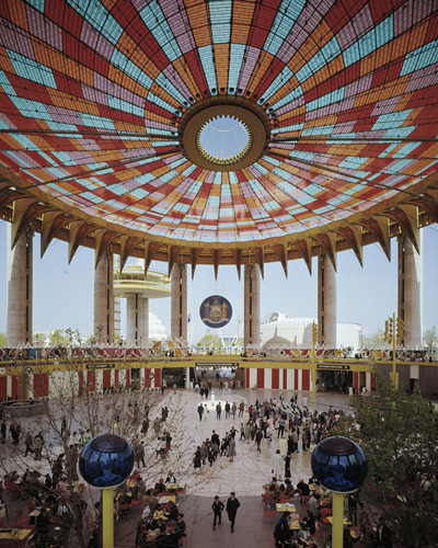 "Tour Philip Johnson's New York State Pavilion Tomorrow, The Pavilion's ""Tent of Tomorrow"" photographed during the fair. Image via People for the Pavillion website. Image"