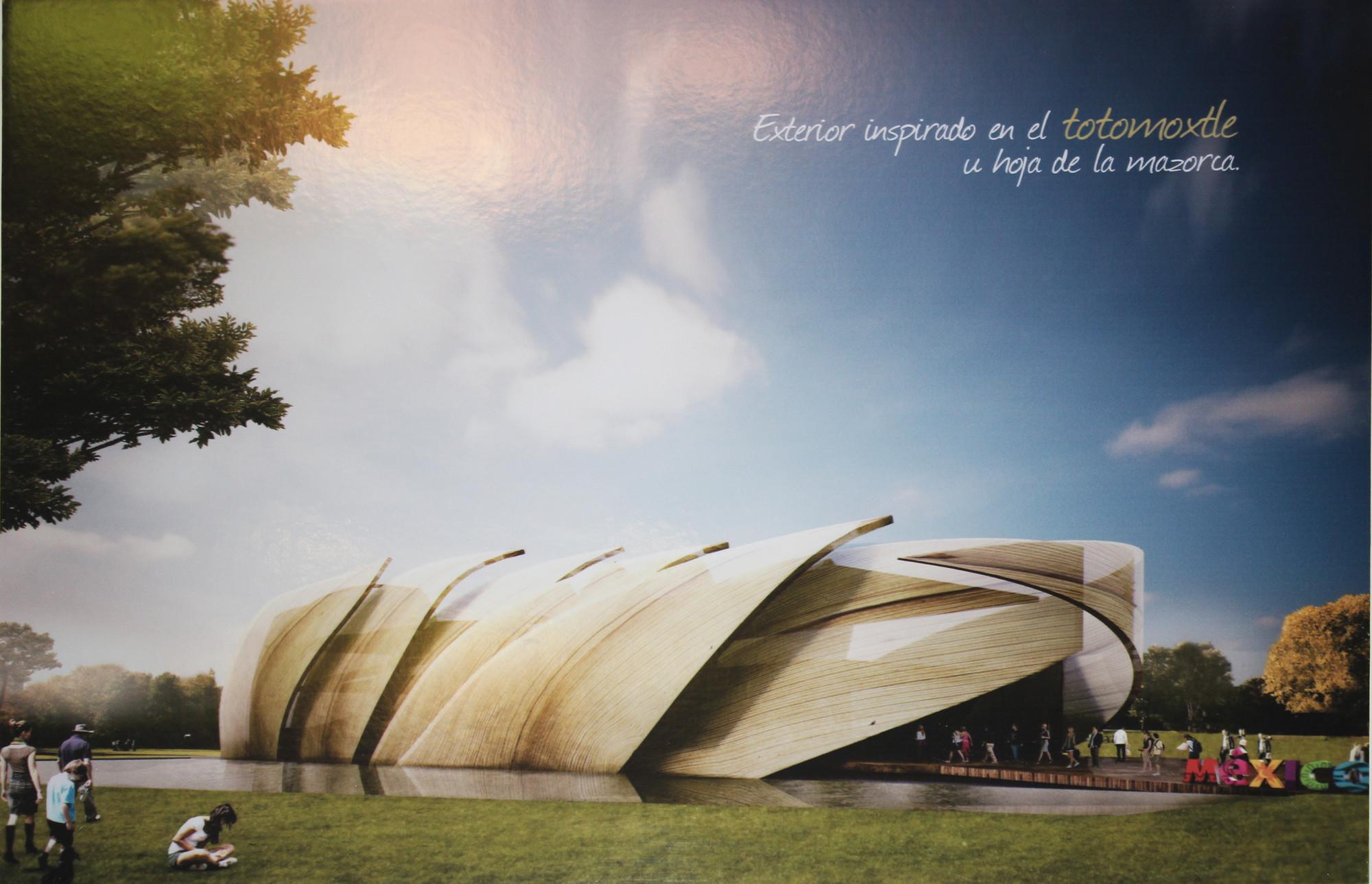 Propuesta ganadora para el Pabellón de México en la Expo Milán 2015, Fotografía de la lámina de la propuesta ganadora. Image © ArchDaily México