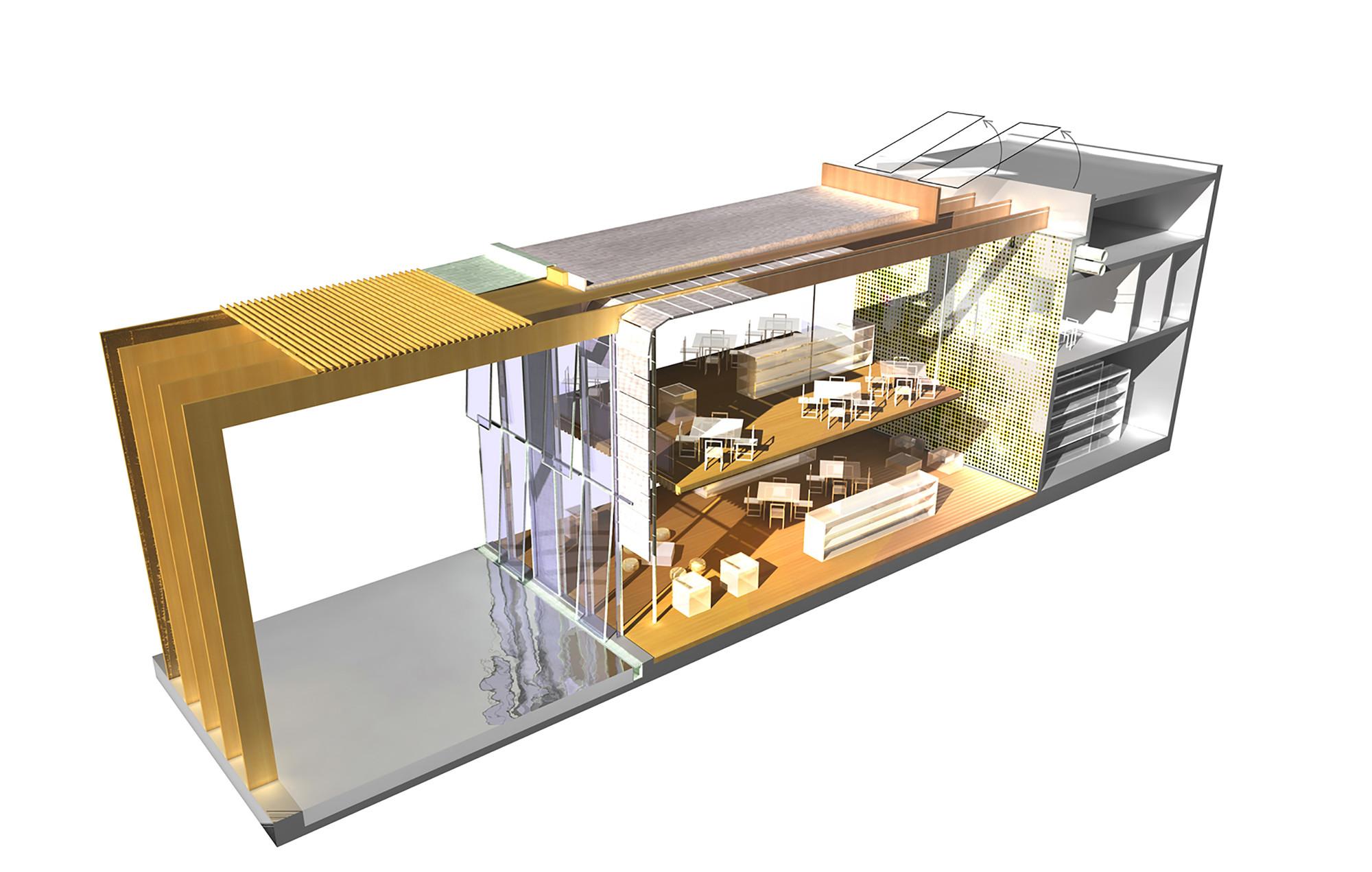 galeria de biblioteca de m dia pontivy opus 5 architectes 21. Black Bedroom Furniture Sets. Home Design Ideas