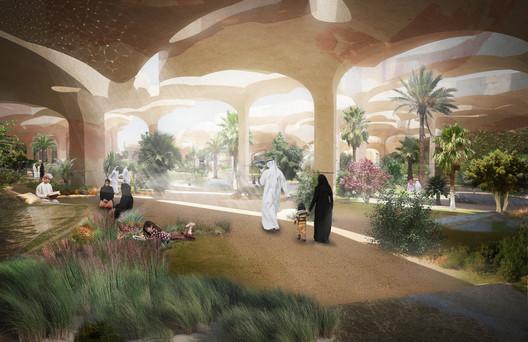 Shaded Gardens. Image Courtesy of Heatherwick Studio