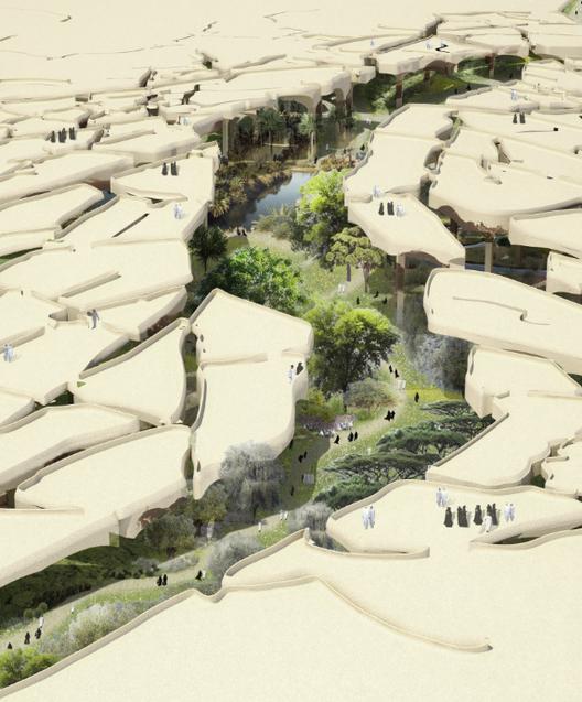 "Heatherwick diseñará ""oasis hundido"" en Abu Dhabi, Desierto fracturado. Imagen © Heatherwick Studio"