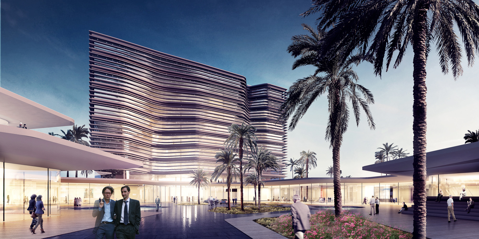 Henning Larsen Wins Competition to Design Central Bank of Libya, Plaza. Image © Henning Larsen Architects