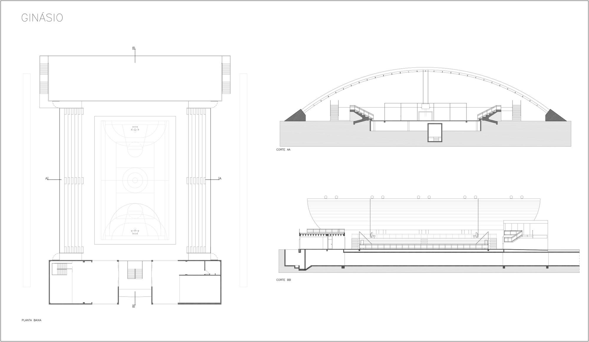 Gallery Of Sesc Barra Secondary School Indio Da Costa Arquitetura 24 Uzi Schematic Schooldrawings Gym