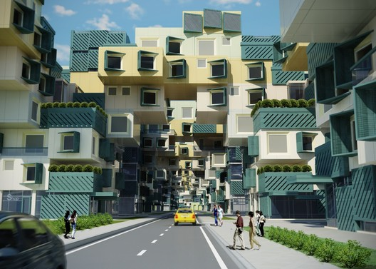 The entry by Team Render for Homs, Syria. Image Courtesy of Render (Marwa Al-Sabouni & Khaled Komee)