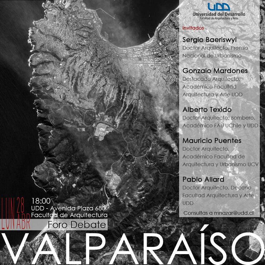 Foro Debate UDD: Expertos arquitectos y urbanistas analizarán planificación de Valparaíso