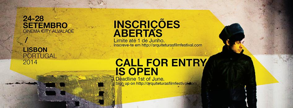 Chamada de filmes para o Arquiteturas Film Festival Lisboa