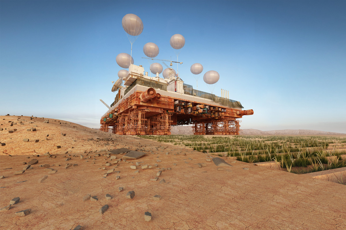 The Green Machine: un oasis móvil que enverdece el desierto de Sahara, Courtesy of Malka Architecture