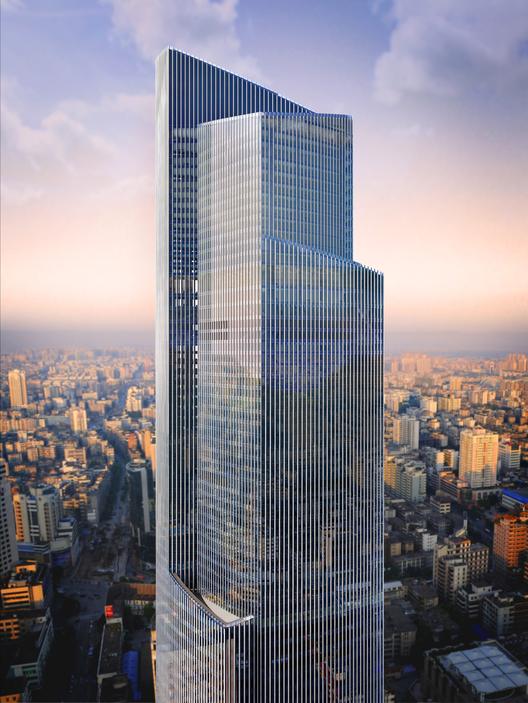 Elevador mais rápido do mundo será instalado em arranha-céu de Guangzhou, China, CTF Guangzhou / KPF. Imagem © KPF