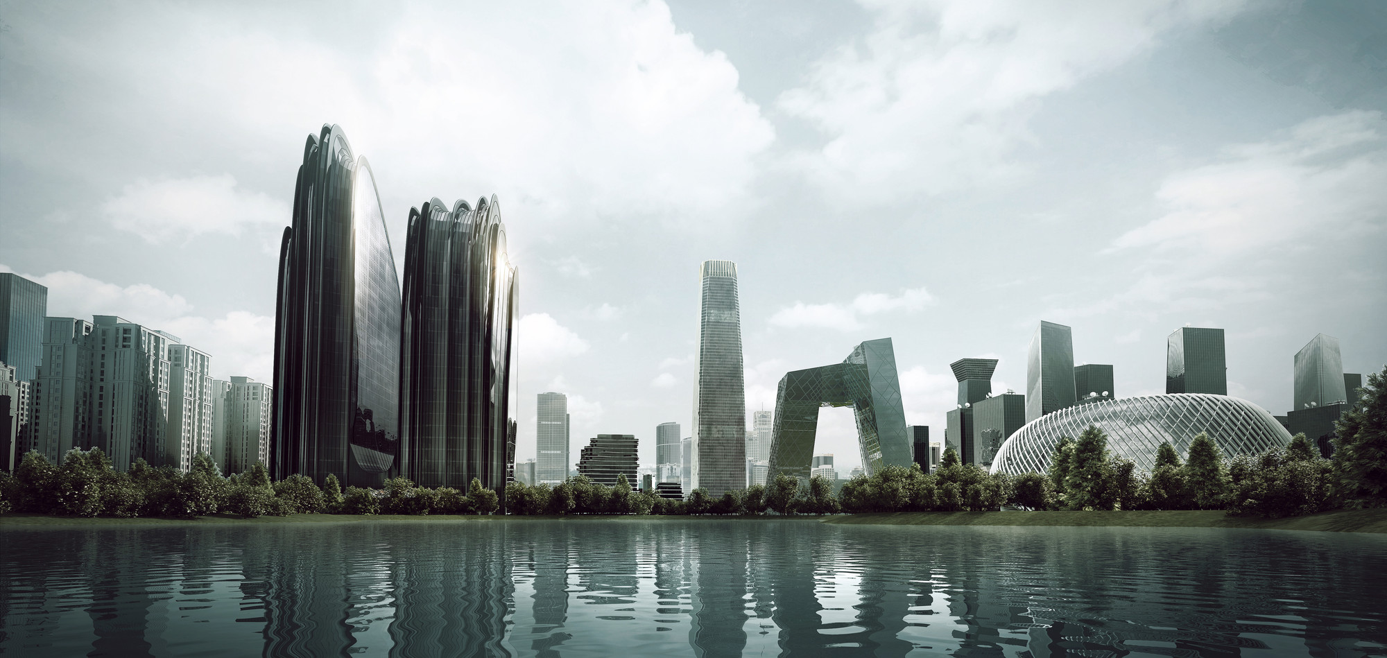 Mad breaks ground on complex that redefines beijing s for Architecture futuriste