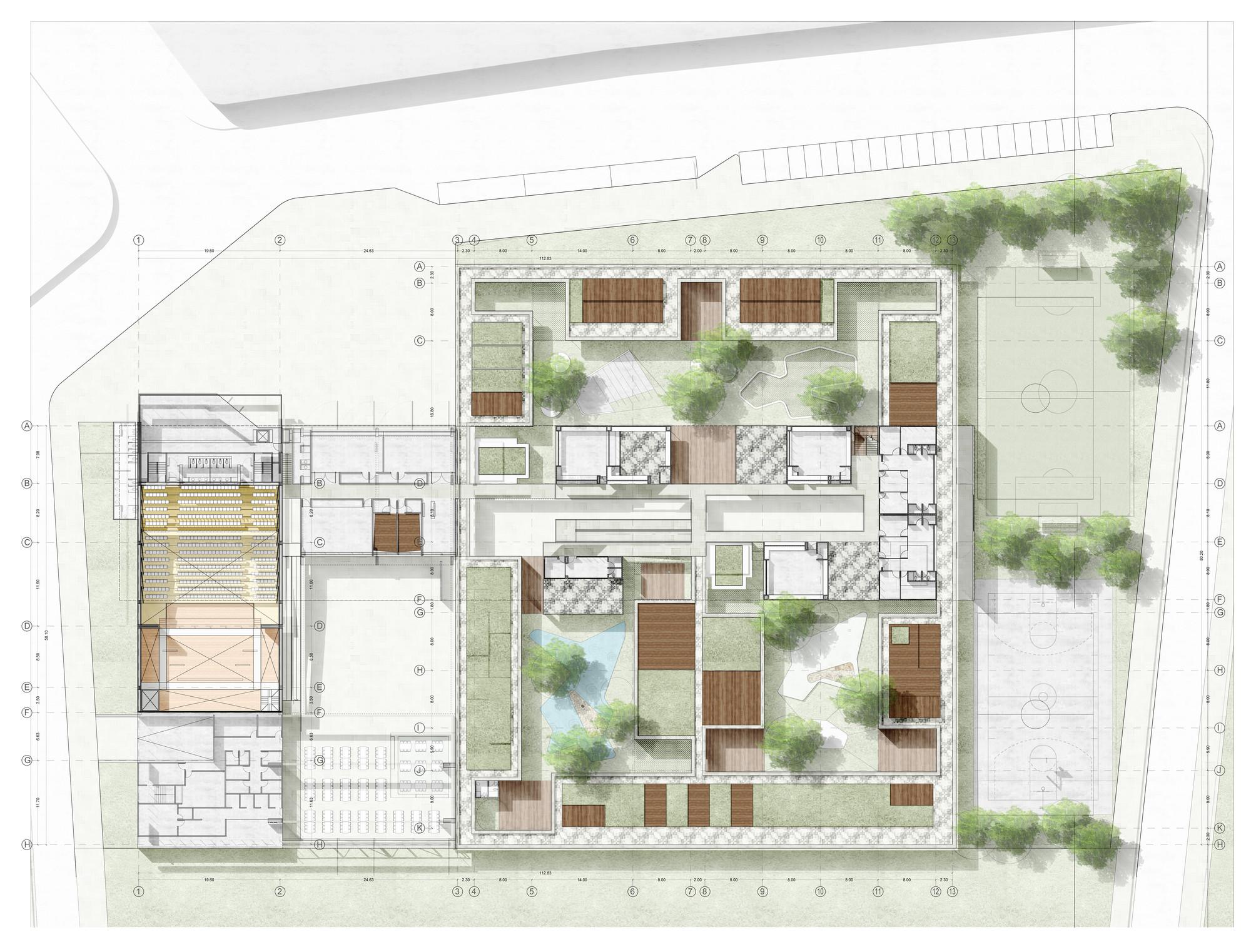 Galer a de primer lugar concurso para el dise o de for Plantas de colegios arquitectura