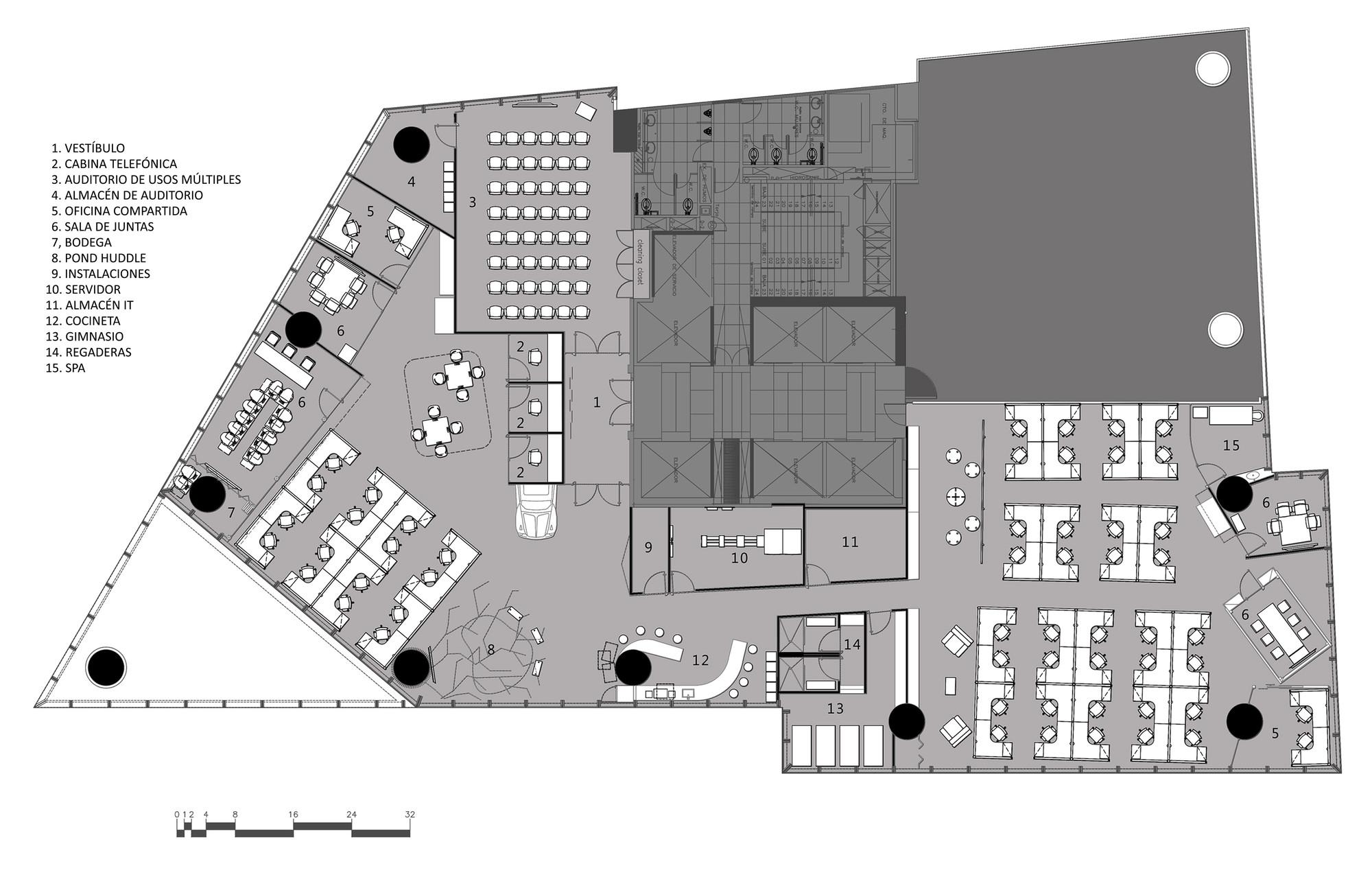 Galer a de google mexico space 16 for Oficinas planta arquitectonica