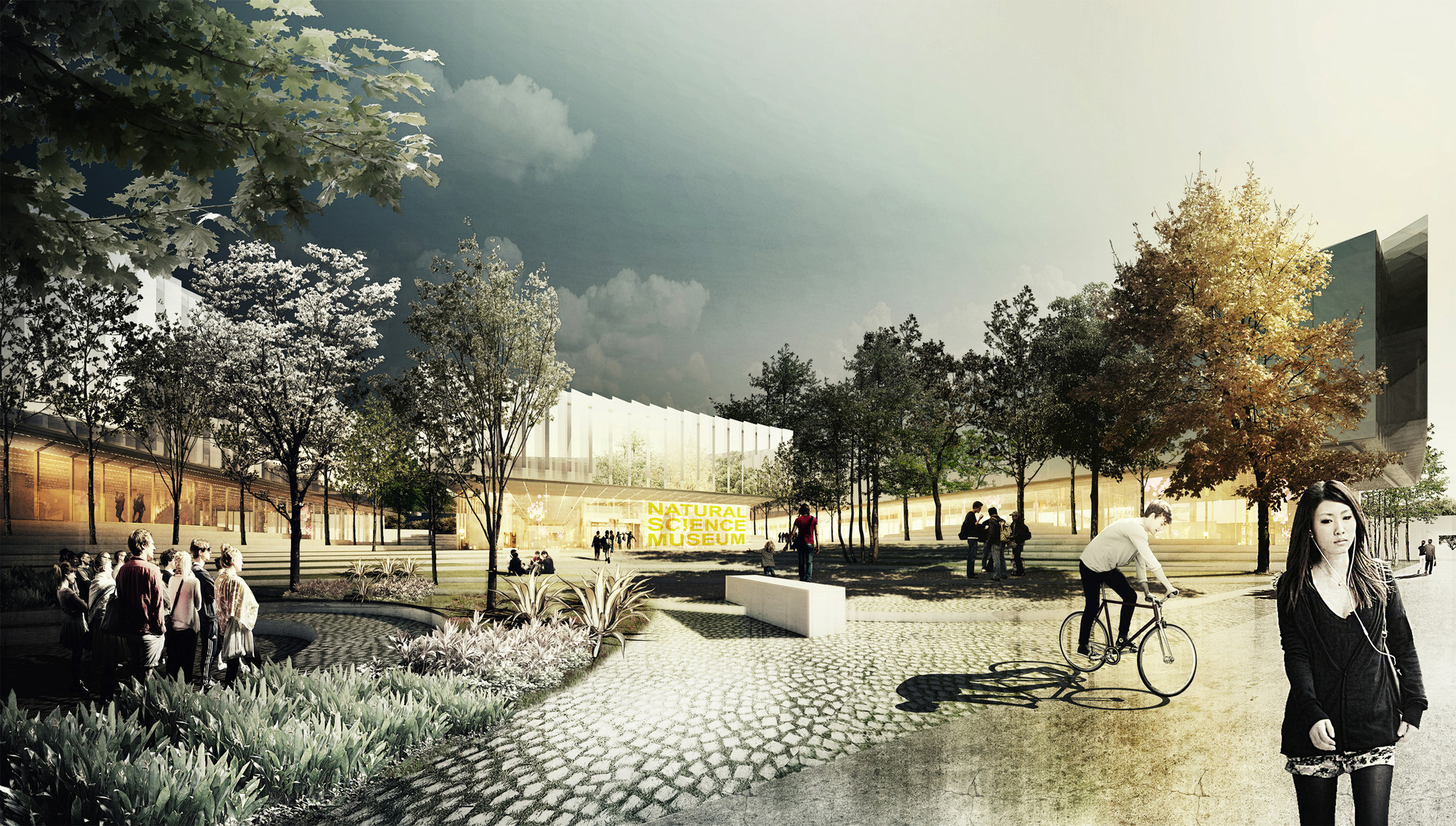 Winners of the Berlin Natural Science Museum Competition Revealed, First Place. Image Courtesy of AWR Competitions