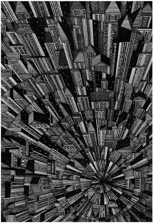Vertigo by Tom Radclyfe. Image Courtesy of drawingarchitecture.tumblr.com/