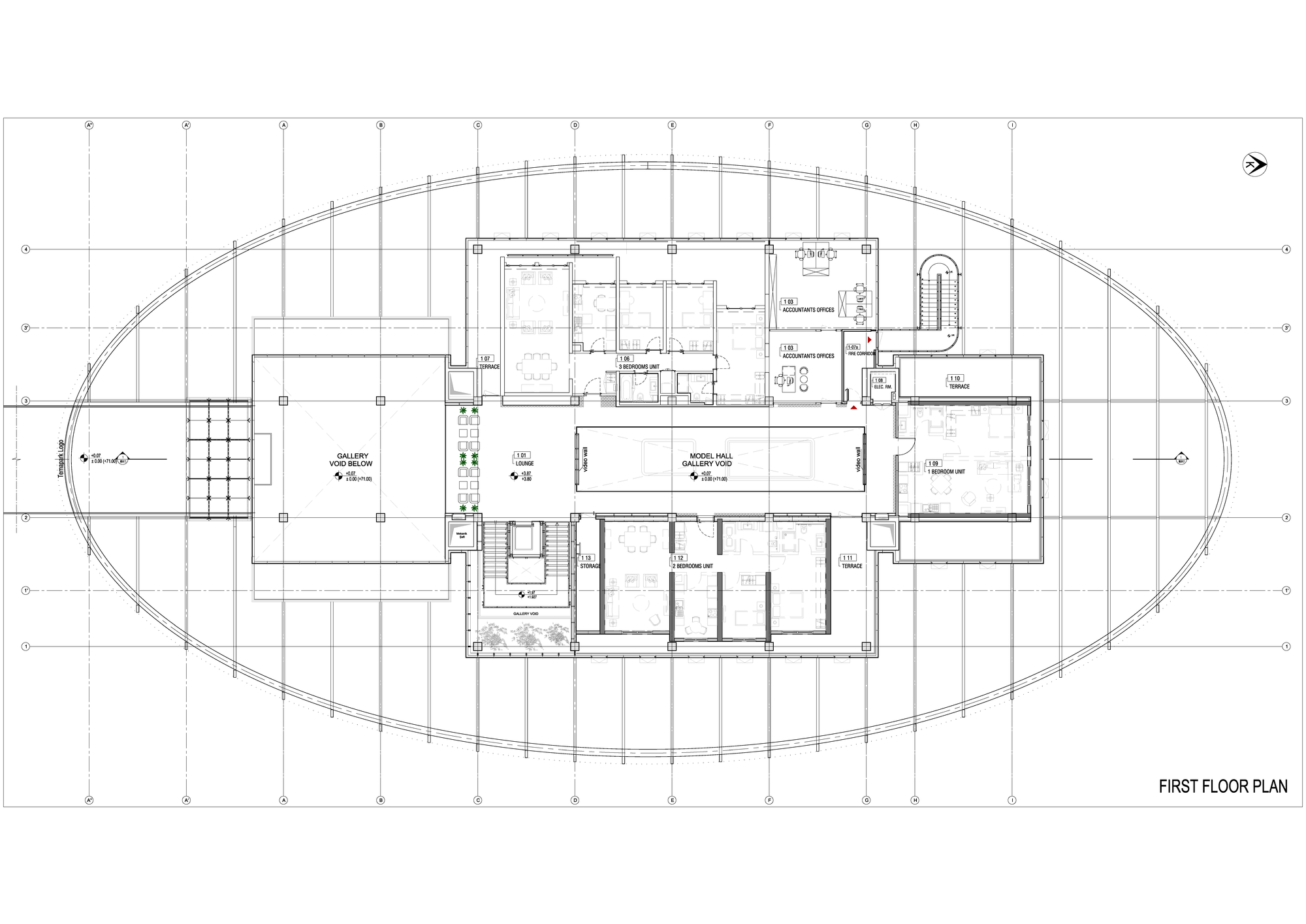Tema Istanbul Showroom,First Floor Plan