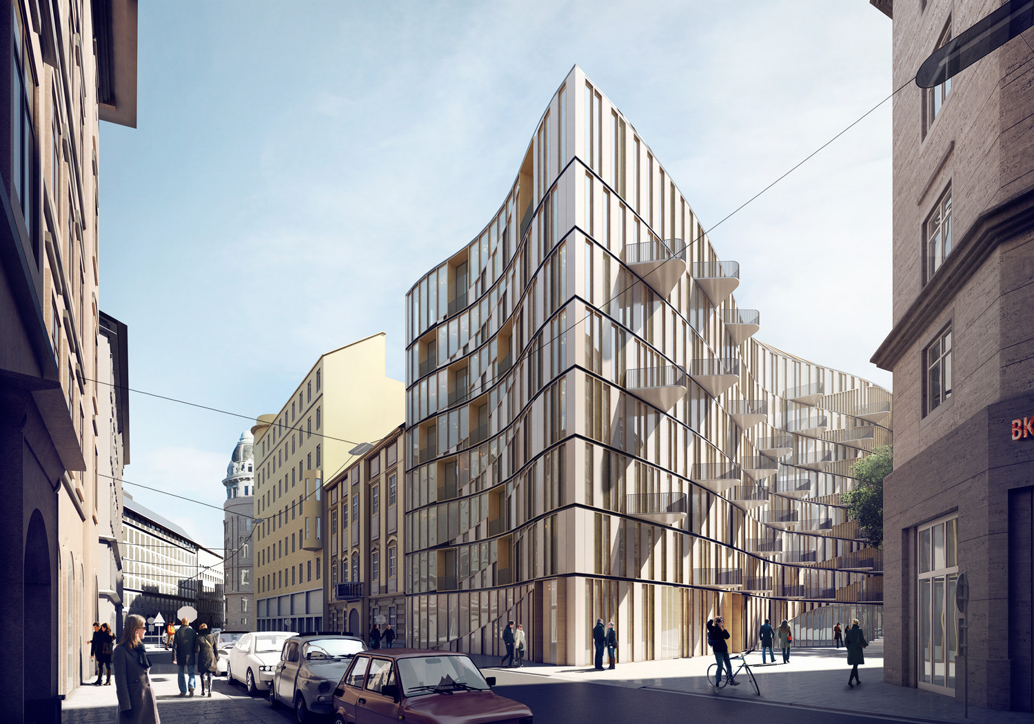 3XN Designs Residential Complex for Downtown Vienna, © 3XN
