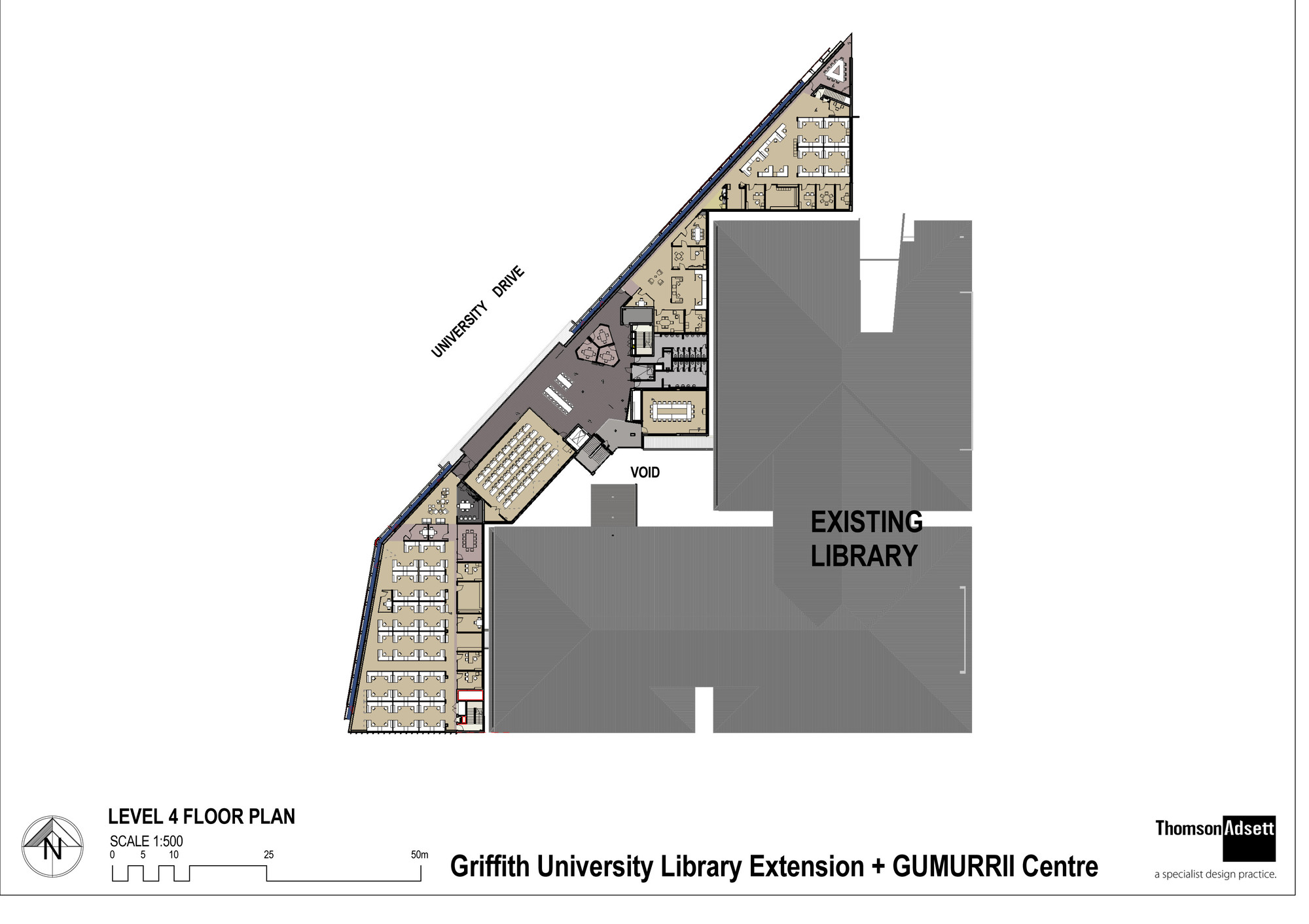 gallery of griffith university g11 library