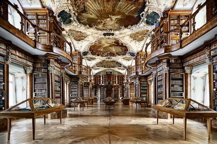 Arquitetura e a Poética da Representação / Dalibor Vesely, Peter Thumb, Biblioteca da Abadia de Saint Gall (1758-1767). Image © Patrick Hauri