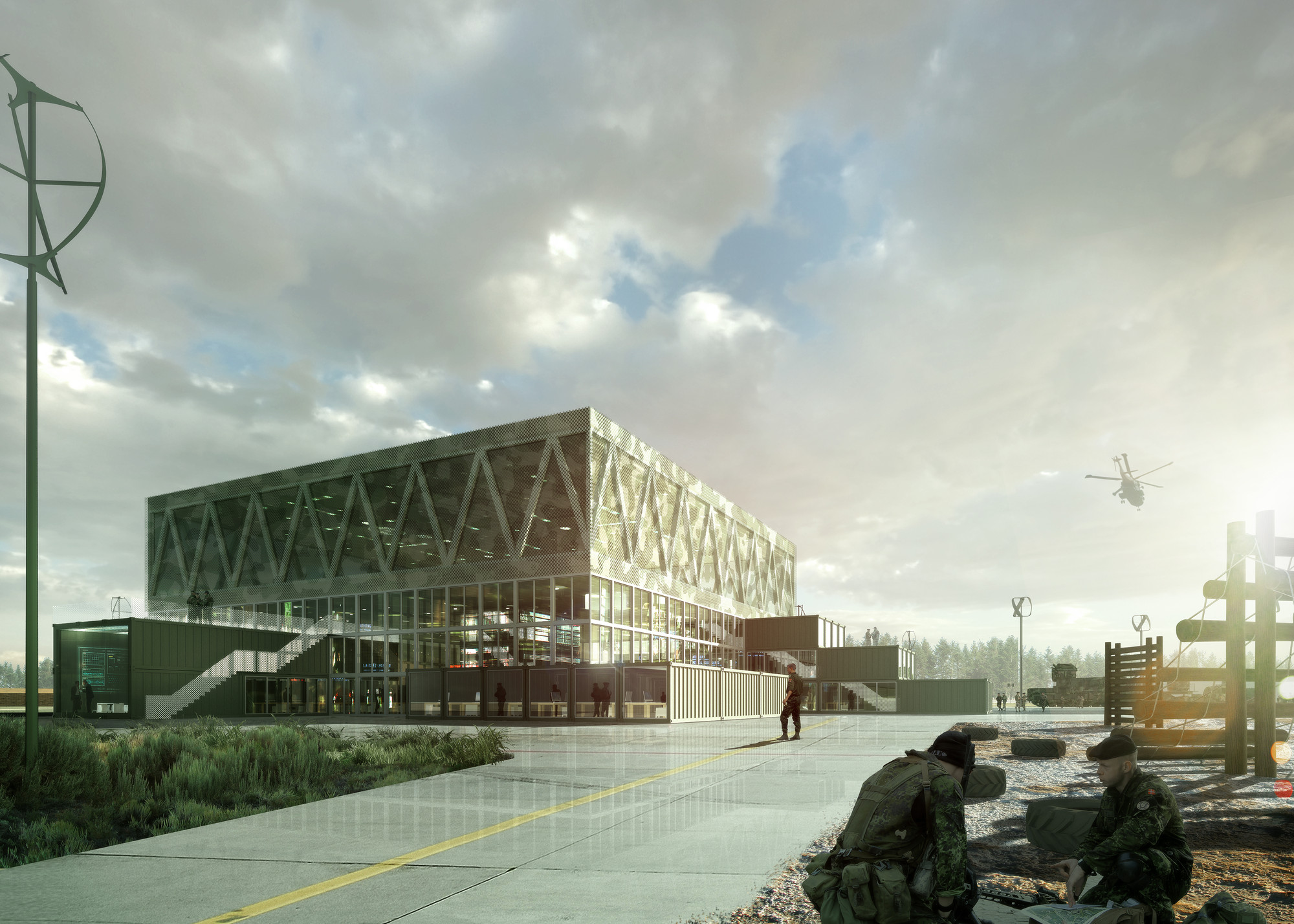 ADEPT Wins High Profile Competition for the Danish Armed Forces, Exterior View. Image © ADEPT / doug&wolf
