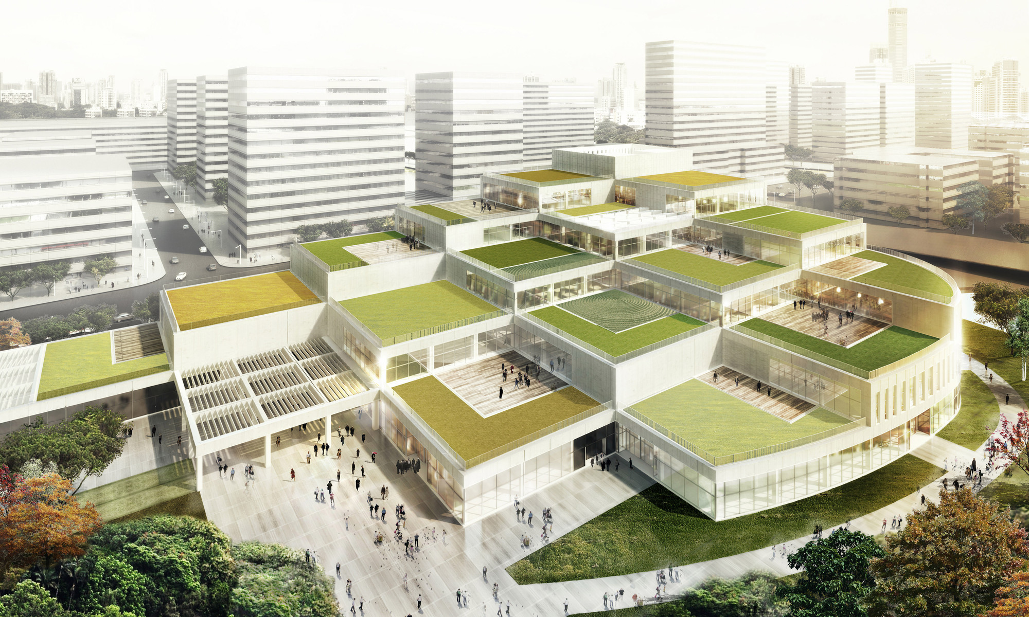 Schmidt hammer lassen designs cultural hub for ningbo s for Architecture design sites