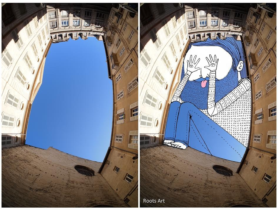 Artist Fills Paris' Negative Space with Whimsical Illustrations